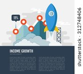 concept of economic growth.... | Shutterstock .eps vector #312748406