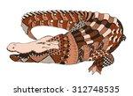 crocodile zentangle stylized ... | Shutterstock .eps vector #312748535