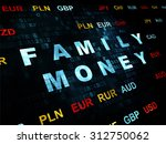 banking concept  pixelated blue ... | Shutterstock . vector #312750062
