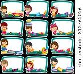 blackboard frames clip art set | Shutterstock .eps vector #312765056