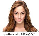 portrait of beautiful woman on... | Shutterstock . vector #312766772