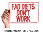 Small photo of Hand with marker writing the word Fad Diets Don't Work