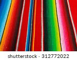 colorful mexican poncho... | Shutterstock . vector #312772022