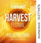 harvest festival poster. vector ... | Shutterstock .eps vector #312774476