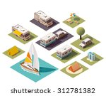 vector isometric icon set or... | Shutterstock .eps vector #312781382