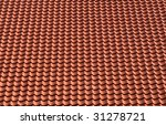red roof title - stock photo