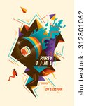 abstract party poster. vector...