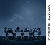 group of multiethnic people... | Shutterstock . vector #312801308