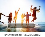 summer togetherness friendship... | Shutterstock . vector #312806882