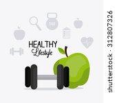 fitness lifestyle design ... | Shutterstock .eps vector #312807326