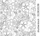 floral seamless pattern.... | Shutterstock .eps vector #312810158