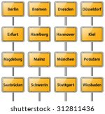 city sign germany capitals... | Shutterstock .eps vector #312811436
