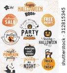 halloween party design elements ... | Shutterstock .eps vector #312815345