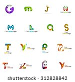 set of colorful abstract letter ... | Shutterstock . vector #312828842