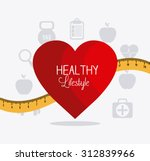 healthy lifestyle design ... | Shutterstock .eps vector #312839966
