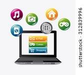 mobile app design  vector... | Shutterstock .eps vector #312839996