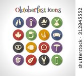 oktoberfest flat icons with... | Shutterstock .eps vector #312845552