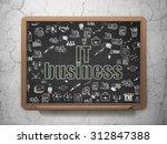 finance concept  chalk green...   Shutterstock . vector #312847388