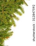 christmas green framework... | Shutterstock . vector #312847592
