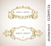vector decorative frame.... | Shutterstock .eps vector #312849116
