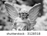Close Up Of A Winged Angel Wit...