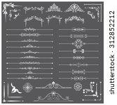 vector illustration of a set of ... | Shutterstock .eps vector #312852212