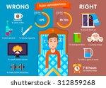 sleep infographic  ten steps... | Shutterstock .eps vector #312859268