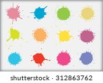 colorful paint splat.paint... | Shutterstock .eps vector #312863762