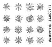 snowflake star white symbol...   Shutterstock . vector #312877646