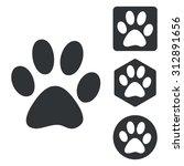 Animal Paw Set. Animal Paw Set...