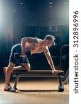 athlete muscular bodybuilder... | Shutterstock . vector #312896996