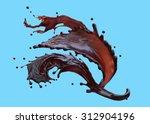 splash of liquid coffee...   Shutterstock . vector #312904196