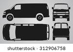 front  back  top and side van... | Shutterstock .eps vector #312906758