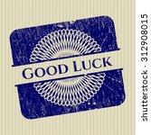 good luck rubber grunge seal | Shutterstock .eps vector #312908015