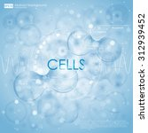 science background with cells...   Shutterstock .eps vector #312939452