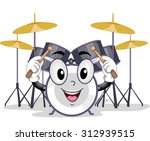 mascot illustration of a drum... | Shutterstock .eps vector #312939515