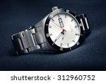 closeup automatic men watch... | Shutterstock . vector #312960752