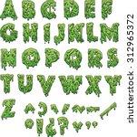 green slime letters. vector...   Shutterstock .eps vector #312965372