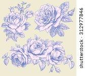 roses. | Shutterstock .eps vector #312977846