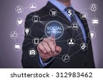 touch social network and social ... | Shutterstock . vector #312983462