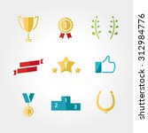 win set icon  award  prize cup... | Shutterstock .eps vector #312984776