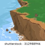 cliff seascape vector nature... | Shutterstock .eps vector #312988946