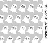 white funny ghost seamless... | Shutterstock .eps vector #312991856