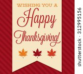 sash happy thanksgiving card in ... | Shutterstock .eps vector #312995156