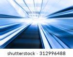 escalator  modern stairs... | Shutterstock . vector #312996488