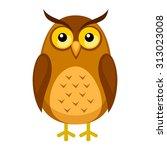 Stock vector cute owl cartoon 313023008