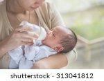 A Portrait Of Cute Newborn Bab...