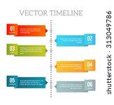 clean vector timeline template... | Shutterstock .eps vector #313049786