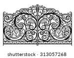 ornate forged vector gates. eps ... | Shutterstock .eps vector #313057268