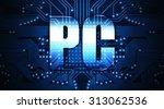 pc  concept  the word written... | Shutterstock . vector #313062536